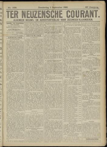Ter Neuzensche Courant. Algemeen Nieuws- en Advertentieblad voor Zeeuwsch-Vlaanderen / Neuzensche Courant ... (idem) / (Algemeen) nieuws en advertentieblad voor Zeeuwsch-Vlaanderen 1920-09-02