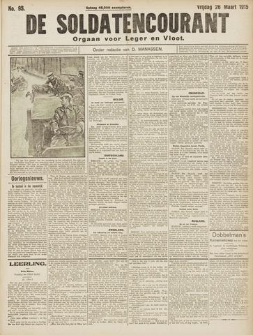 De Soldatencourant. Orgaan voor Leger en Vloot 1915-03-26