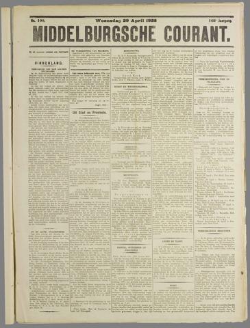 Middelburgsche Courant 1925-04-29