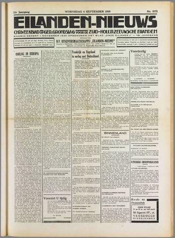 Eilanden-nieuws. Christelijk streekblad op gereformeerde grondslag 1939-09-06