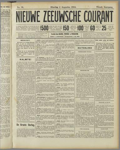 Nieuwe Zeeuwsche Courant 1914-08-04