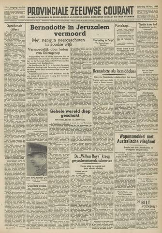 Provinciale Zeeuwse Courant 1948-09-18