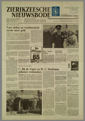 Zierikzeesche Nieuwsbode 1974-09-05