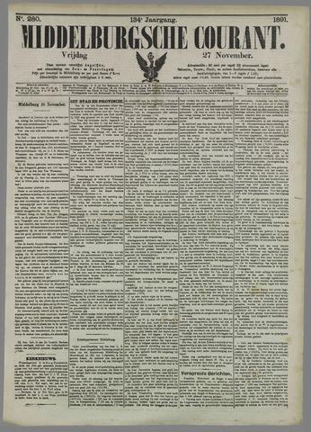 Middelburgsche Courant 1891-11-27