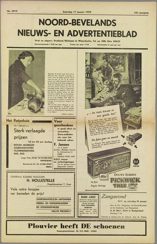 Noord-Bevelands Nieuws- en advertentieblad 1959-01-17