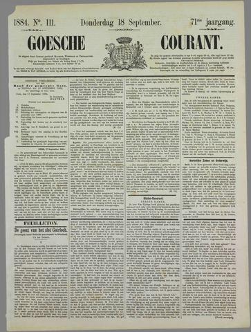 Goessche Courant 1884-09-18