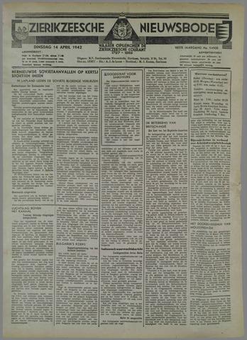 Zierikzeesche Nieuwsbode 1942-04-14