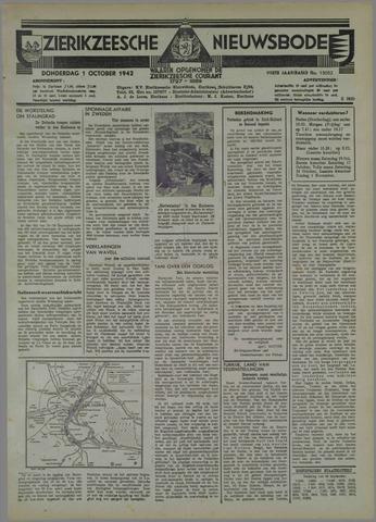 Zierikzeesche Nieuwsbode 1942-10-01