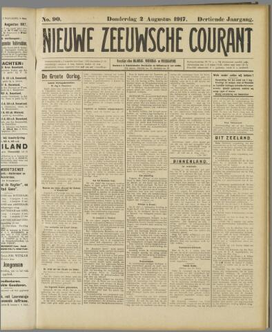 Nieuwe Zeeuwsche Courant 1917-08-02