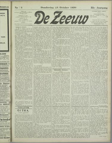 De Zeeuw. Christelijk-historisch nieuwsblad voor Zeeland 1920-10-28