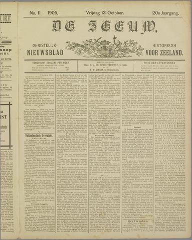 De Zeeuw. Christelijk-historisch nieuwsblad voor Zeeland 1905-10-13