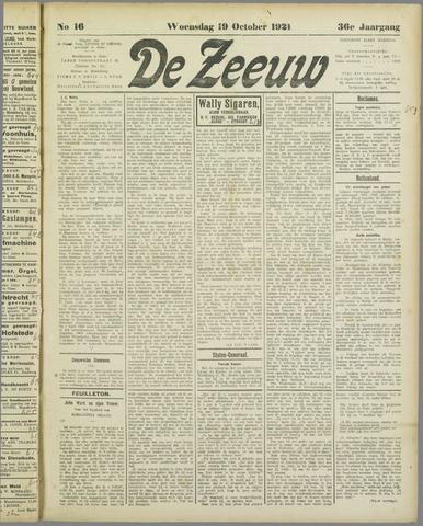 De Zeeuw. Christelijk-historisch nieuwsblad voor Zeeland 1921-10-19