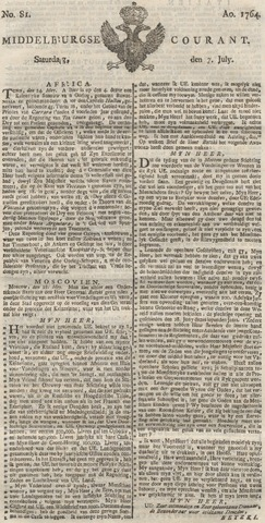 Middelburgsche Courant 1764-07-07