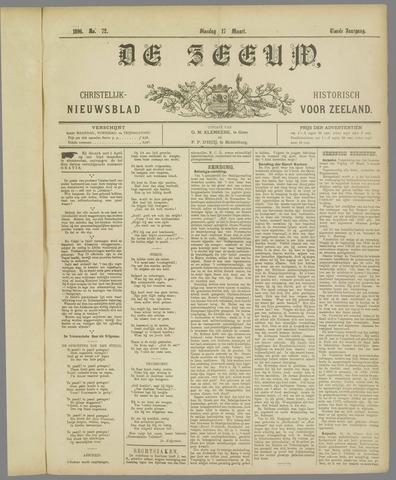 De Zeeuw. Christelijk-historisch nieuwsblad voor Zeeland 1896-03-17