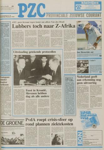 Provinciale Zeeuwse Courant 1992-01-16