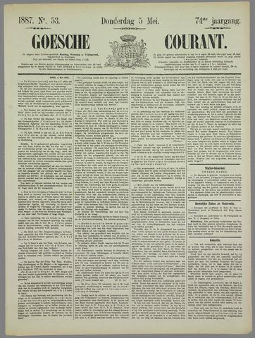 Goessche Courant 1887-05-05