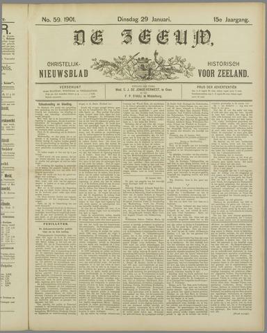 De Zeeuw. Christelijk-historisch nieuwsblad voor Zeeland 1901-01-29