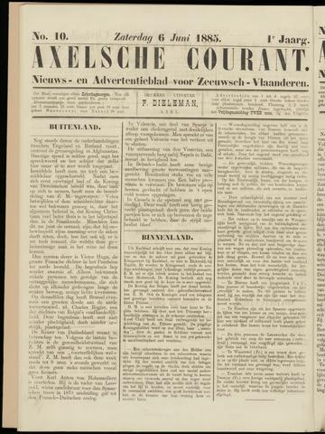 Axelsche Courant 1885-06-06