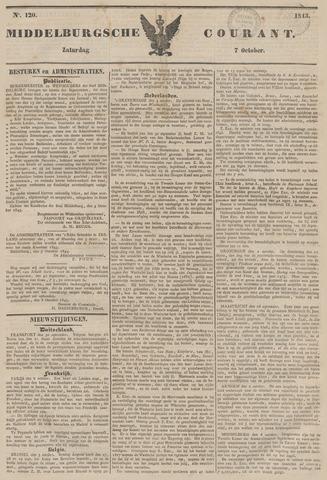 Middelburgsche Courant 1843-10-07