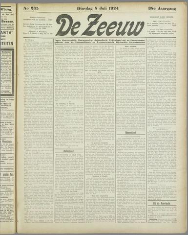 De Zeeuw. Christelijk-historisch nieuwsblad voor Zeeland 1924-07-08