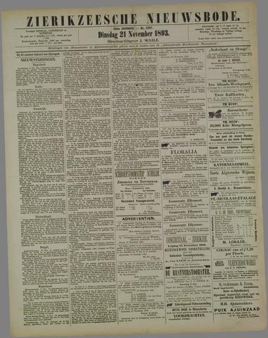 Zierikzeesche Nieuwsbode 1893-11-21