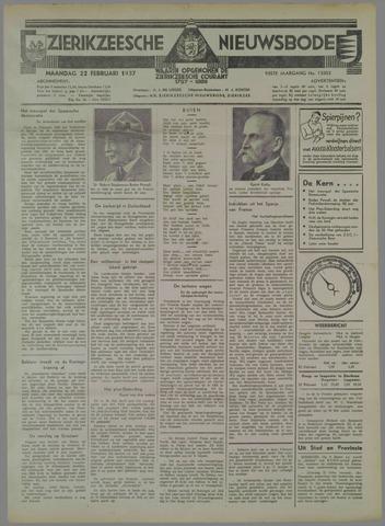 Zierikzeesche Nieuwsbode 1937-02-22