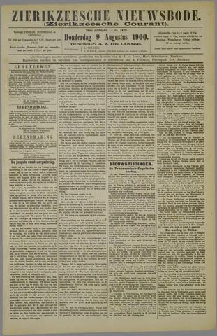 Zierikzeesche Nieuwsbode 1900-08-09
