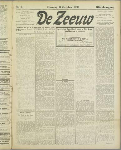 De Zeeuw. Christelijk-historisch nieuwsblad voor Zeeland 1921-10-11