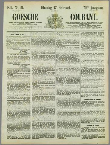 Goessche Courant 1891-02-17