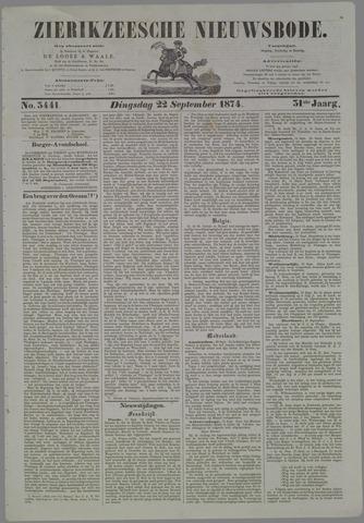 Zierikzeesche Nieuwsbode 1874-09-22