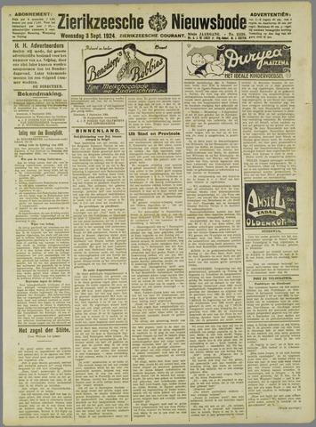 Zierikzeesche Nieuwsbode 1924-09-03