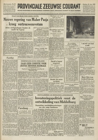 Provinciale Zeeuwse Courant 1952-01-29