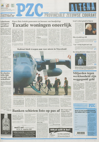 Provinciale Zeeuwse Courant 2001-08-18