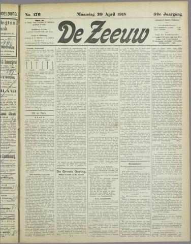 De Zeeuw. Christelijk-historisch nieuwsblad voor Zeeland 1918-04-29