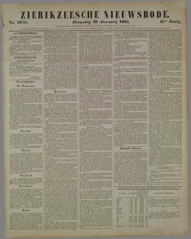 Zierikzeesche Nieuwsbode 1885-01-20