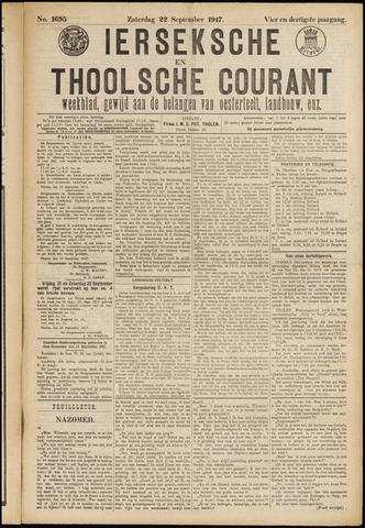 Ierseksche en Thoolsche Courant 1917-09-22