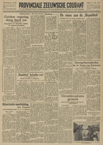 Provinciale Zeeuwse Courant 1947-07-11