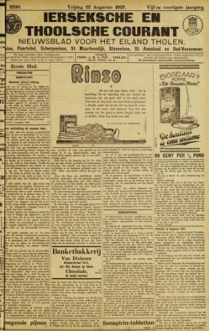 Ierseksche en Thoolsche Courant 1927-08-12