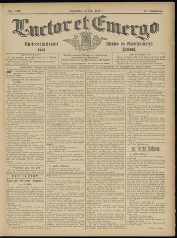 Luctor et Emergo. Antirevolutionair nieuws- en advertentieblad voor Zeeland / Zeeuwsch-Vlaanderen. Orgaan ter verspreiding van de christelijke beginselen in Zeeuwsch-Vlaanderen 1913-05-31