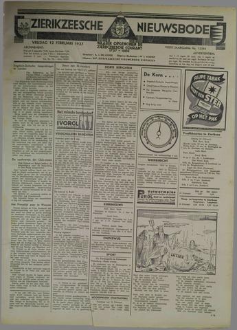 Zierikzeesche Nieuwsbode 1937-02-12