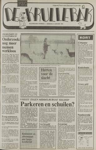 Provinciale Zeeuwse Courant katern Krullenbak (1981-1999) 1983