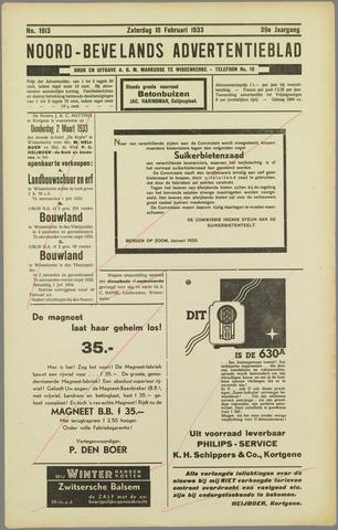 Noord-Bevelands Nieuws- en advertentieblad 1933-02-18