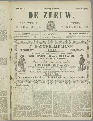 De Zeeuw. Christelijk-historisch nieuwsblad voor Zeeland 1888-10-11
