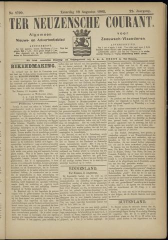 Ter Neuzensche Courant. Algemeen Nieuws- en Advertentieblad voor Zeeuwsch-Vlaanderen / Neuzensche Courant ... (idem) / (Algemeen) nieuws en advertentieblad voor Zeeuwsch-Vlaanderen 1882-08-12