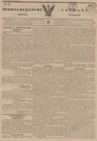 Middelburgsche Courant 1843-02-23