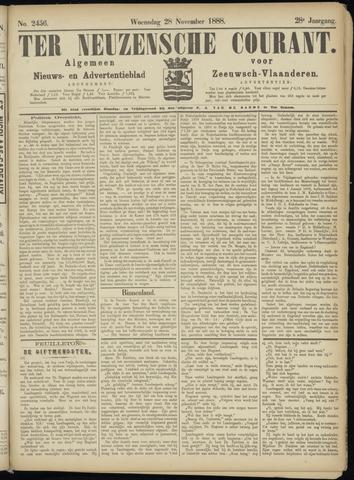 Ter Neuzensche Courant. Algemeen Nieuws- en Advertentieblad voor Zeeuwsch-Vlaanderen / Neuzensche Courant ... (idem) / (Algemeen) nieuws en advertentieblad voor Zeeuwsch-Vlaanderen 1888-11-28