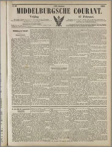 Middelburgsche Courant 1903-02-27