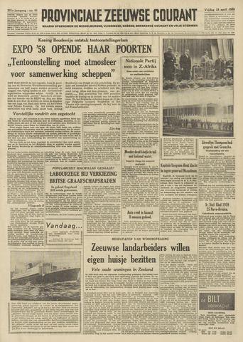 Provinciale Zeeuwse Courant 1958-04-18