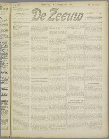 De Zeeuw. Christelijk-historisch nieuwsblad voor Zeeland 1917-12-18