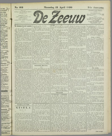 De Zeeuw. Christelijk-historisch nieuwsblad voor Zeeland 1920-04-12